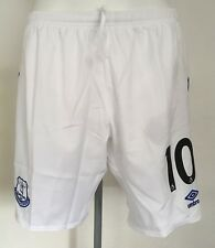 2017/18 Everton White Home Shorts No 10 By Umbro Adult Large Brand New With Tags