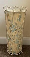 Retro Vintage Shabby Chic Wire work & Toleware Umbrella Stand 50s 60s