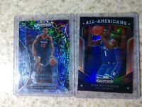 2019-20 Prizm Draft De'Andre Hunter Camo 1/25 1/1 & Zion Williamson Blue #100