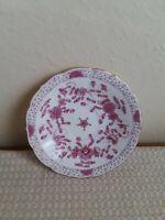 Vintage Meissen  Saucer Indian Flower Pink