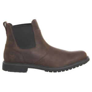 Timberland Mens Boots Stormbucks Casual Pull-On Chelsea Leather Textile