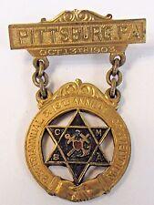 1903 CMBA Catholic Mutual Benefit Ass'n Penna. fraternal insurance badge medal +