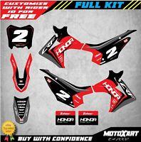 Custom Graphics, Full Kit For Honda CRF 110 - 2013 - 2018 SPARK style stickers