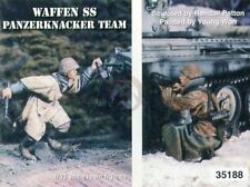 Warriors 1/35 Waffen-Ss Panzerknacker Team w/Hafthohlladung At Charge Wwii 35188