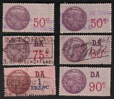 France 1925 Revenues Timbre Fiscal Revenues 50c-1F Lot Of 6