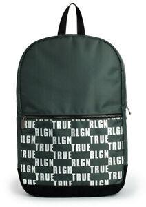 True Religion Men's Logo Block Military Backpack Bag in Military Green