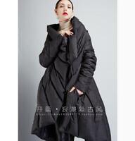 Womens Lady Duck Down Coats Snow Mid Long Jacket Lapel Cape Outwear Warm Winter