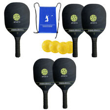 New listing Pickleballs Rackets Set Cushion Wood Portable for Pickleball Player Outdoor