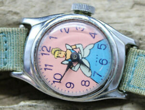 1950's Cinderella Watch US Time Chrome Plated Bezel Stainless RARE Vintage (R3O)