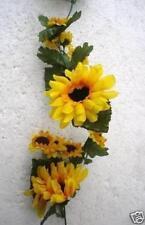 New Yellow Sunflower Garland 9ft Silk Flowers Garland Shades Quality
