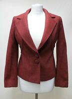 LUCA LUCA Ladies Red Wool Single Breasted Two Button Blazer Jacket UK10 IT42