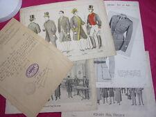 SUITE DE GRAVURES MODE 1901-1902 Maison du Fashionable + Diplome de coupe 1904