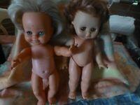 au choix==piéce   poupée vintages ,clodrey et raynal    33cm