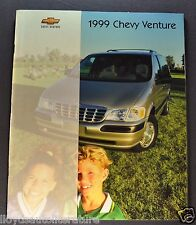 1999 Chevrolet Venture Mini Van Catalog Brochure LS LT Excellent Original 99