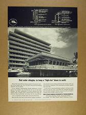 1967 Sands Harbor Inn orlando fl hotel photo Red Cedar Shingles vintage print Ad