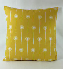"St Jude's Dandelion Two  - Ochre  Cushion Cover  - By Angie Lewin 17"" x 17"""