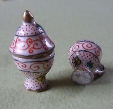 2 tasses miniatures FAIENCE DESVRES-G.FOURMAINTRAUX-MAISON POUPEE-DOLLS'HOUSE