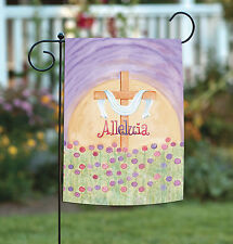 New Toland - Alleluia - Colorful Spring Easter Cross Flower Garden Flag