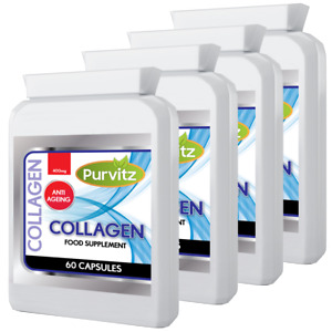 Purvitz Collagène (Marine) 400mg 240 Gélules Healthy Skin Articulations Tissu Gb