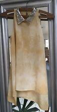 SASS And Bide Tie Dye Sleeveless Blouse Silk Sequin Collar BNWOT