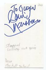Staggered Crossing - David E.G. Marshall Signed 3x5 Index Card Autographed Band