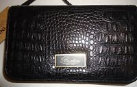 Buxton Croco Mini Bag,Black