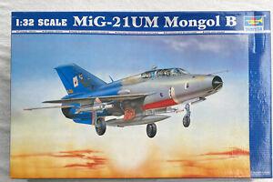 MIG-21UM MONGOL B 1/32 aircraft Trumpeter model plane kit 02219