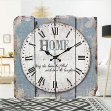 Stonebriar Square 15'' Wall Clock Rustic Farmhouse Worn  Roman Numeral Vintage