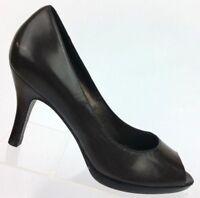 Cole Haan Brown Leather Classic Pumps Peep Toe Heels Shoes D29706 Women's 6 B