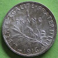 FRANCE 1 FRANC SEMEUSE 1916