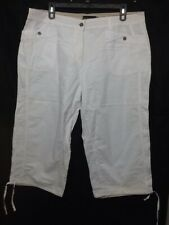 Dean St. Troper France Women's Capris, Cropped White Cotton Pants Size 20    AA1