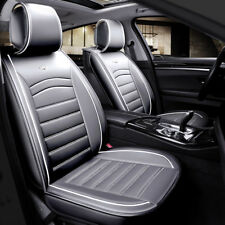 Deluxe Grey PU Leather Front Seat Covers Padded For Mercedes GLE GLS C S M AMG