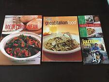 "2 Books & 2 Mini Books ""Mediterranean, Great Italian Food, Jamie Oliver"" *VGC"