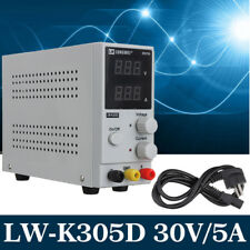DC Power Supply 30V 5A Precision Adjustable Switching LCD Display Lab Grade