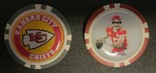 (2) PATRICK MAHOMES & KANSAS CITY CHIEFS - Poker Chip Golf Ball Marker  FREE S/H