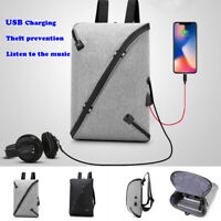 Business Men Anti-Theft Travel Backpack USB Port Shoulder Laptop School Bag