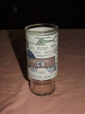 VINTAGE OLD CAR TRUCKERS 1970S CB RADIO JARGON DRINKING GLASS