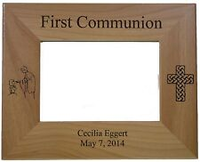 "First Communion (Girl) Picture Frame Personalized Holds 4"" by6"" Picture"