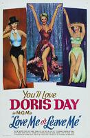 LOVE LEAVE ME DORIS DAY JAMES CAGNEY MUSICAL DRAMA USA ART POSTER PRINT CC6414