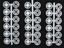 Nylon Botones de presión Transparente 10mm para coser 18 PCS