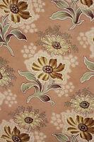 Curtain Antique French Fabric Art Nouveau large panel with trim ~ c1900 textile