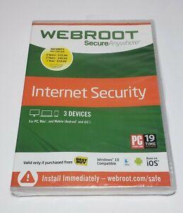 Webroot SecureAnywhere Internet Security Full Version Windows & Mac WBR00SA