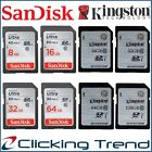 SD Card SanDisk 32GB 64GB 8G 16G 128G Kingston SDHC SDXC Class 10 Camera Memory