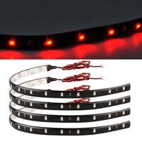 8x 30cm 15LED Car Auto Strip Red light Car Auto Flexible Grill Light Lamp Strip