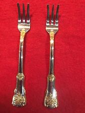 Royal Albert  Old Country Roses Set of  2 Seafood / Cocktail Forks 18/10