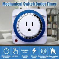 Timer Switch Socket 24 Hour Power Energy-saving Plug-in EU US Socket AC 125V 15A