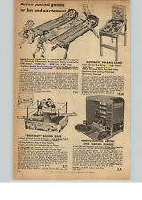 1956 PAPER AD Zany Electric Elevator Garage Knockout Boxing Game Mechanical Toy