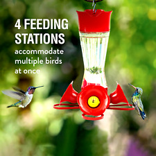 New listing New Pinch Waist Glass Hummingbird Feeder - 8 oz. Capacity Premium Feeder Station