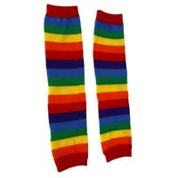 Pair Colorful Stripes Baby Toddler Kids Children Leg Warmers Leggings Socks T7W3
