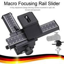 4-Wege Einstellschlitten Fokussierschiene Makroschlitten Schiene Aluminium LM